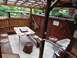 天然温泉 露天風呂の宿 バーベキュー