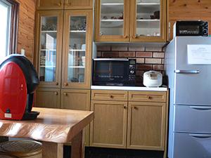 天然温泉 露天風呂の宿 キッチン